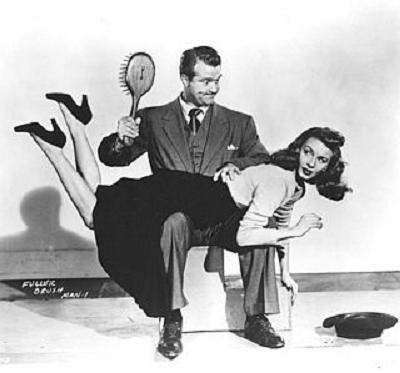 PINUP janet-blair-hairbrush-spanked-in-fuller-brush-man